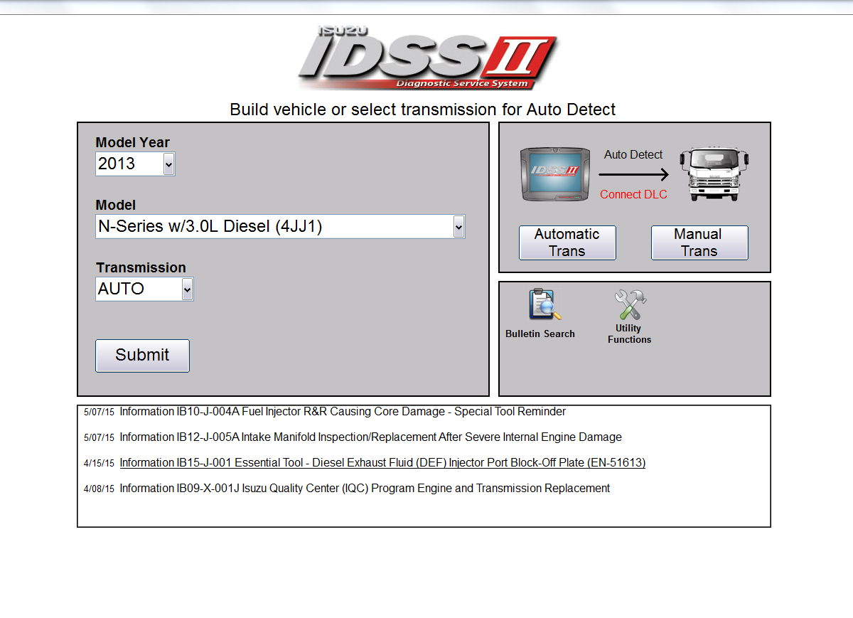 Isuzu Truck Service 2014 Box Wiring Diagram Idss Diagnostic Software Included In Kit Connection Setup