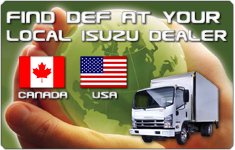 Find DEF at your local Isuzu Dealer